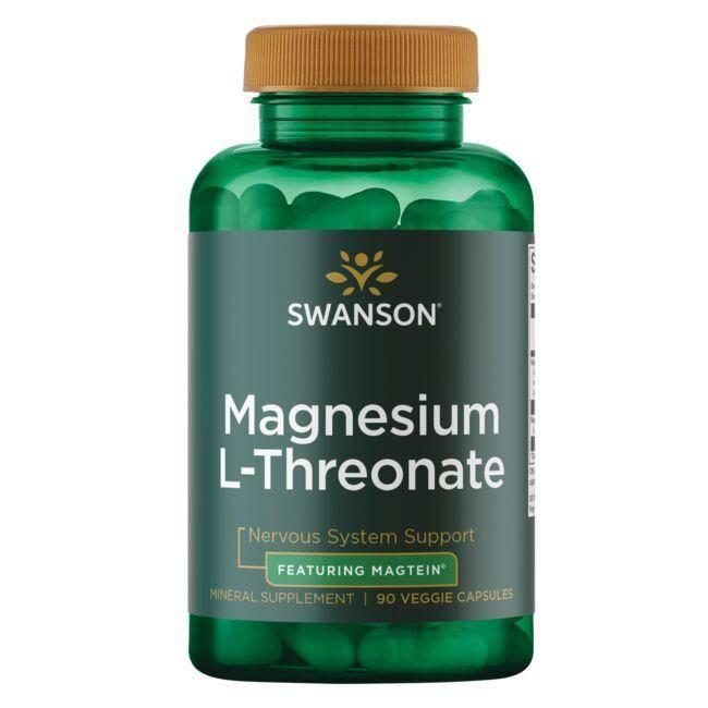 Swanson Ultra Magnesium L-Threonate - Featuring Magtein 90 Veg Caps Health Minerals