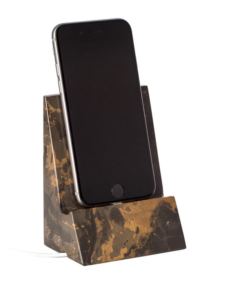 Bey-Berk Tiger Eye Marble Desktop Phone / Tablet Cradle