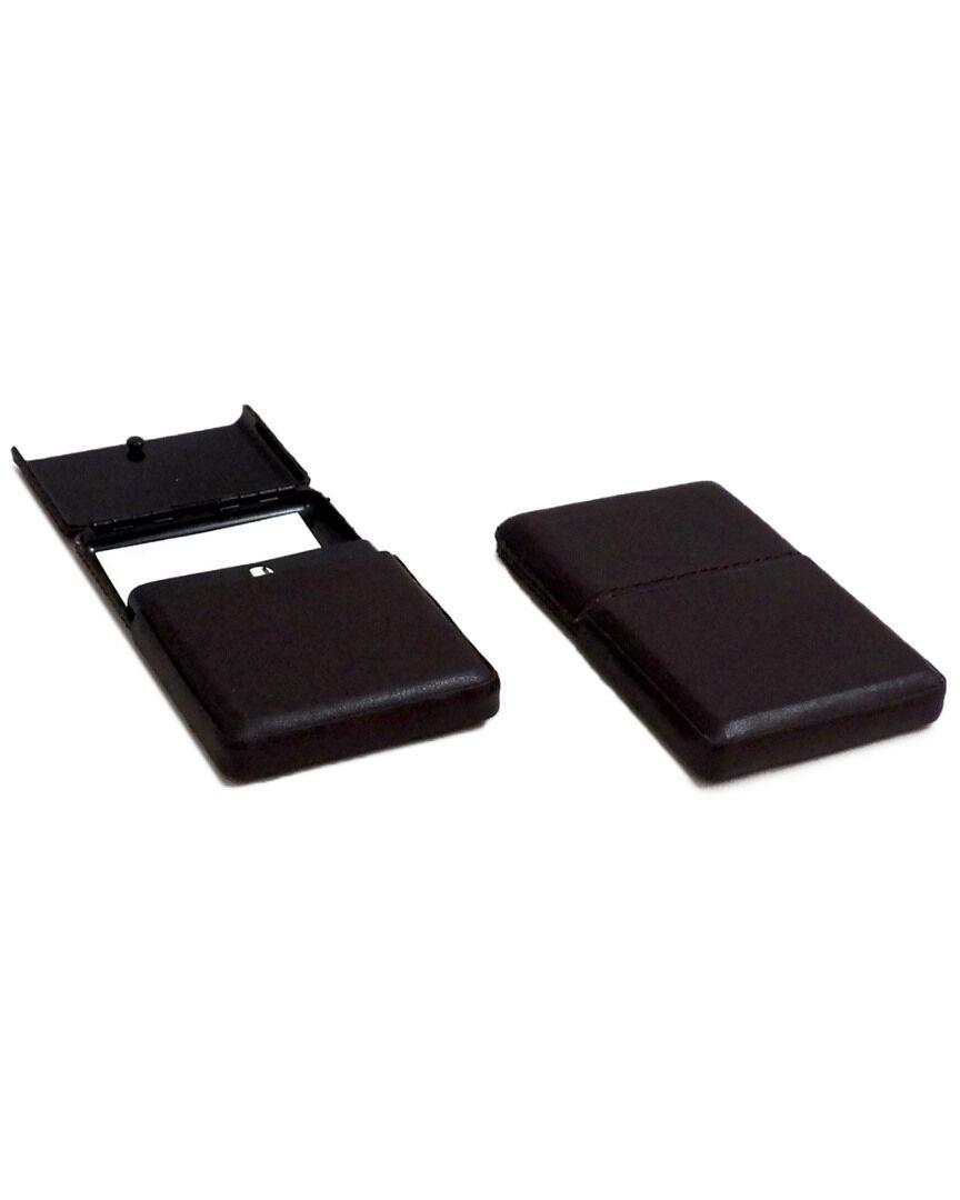 Bey-Berk Brown Leather Business Card Case