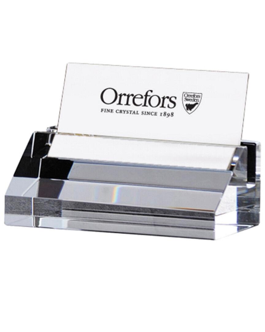Orrefors Wall Street Business Card Holder