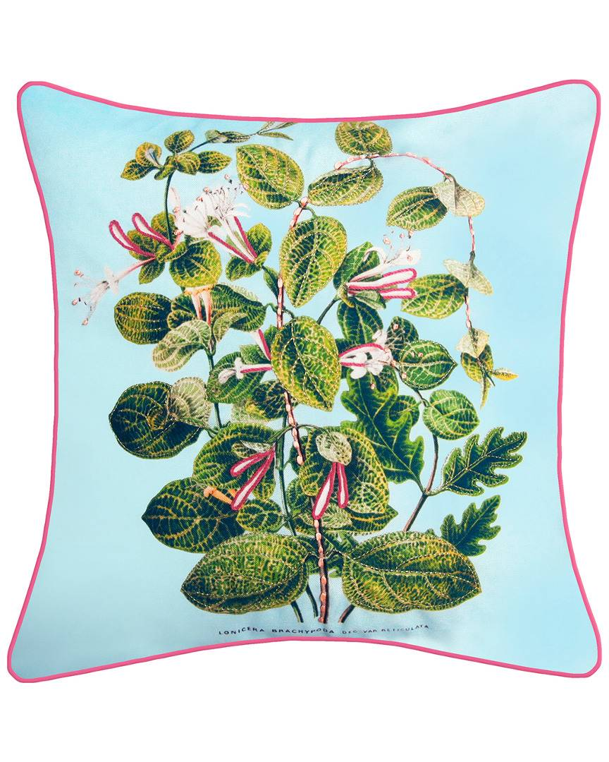 """NYBG New York Botanical Garden Leafy Floral Indoor/Outdoor Square Throw Pillow - Multi - Size: 20"""" x 20"""" x 6"""""""