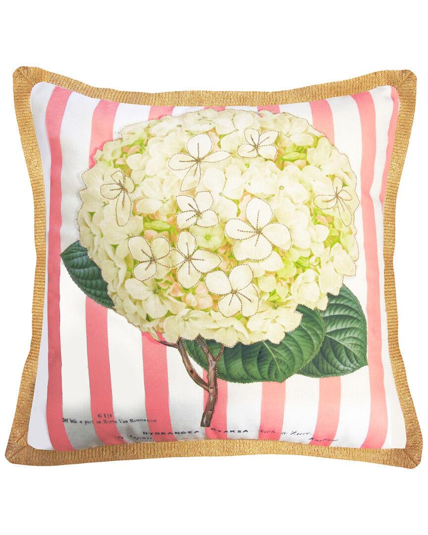 "NYBG New York Botanical Garden Hydrangea Indoor/Outdoor Square Throw Pillow - Multi - Size: 20"" x 20"" x 6"""