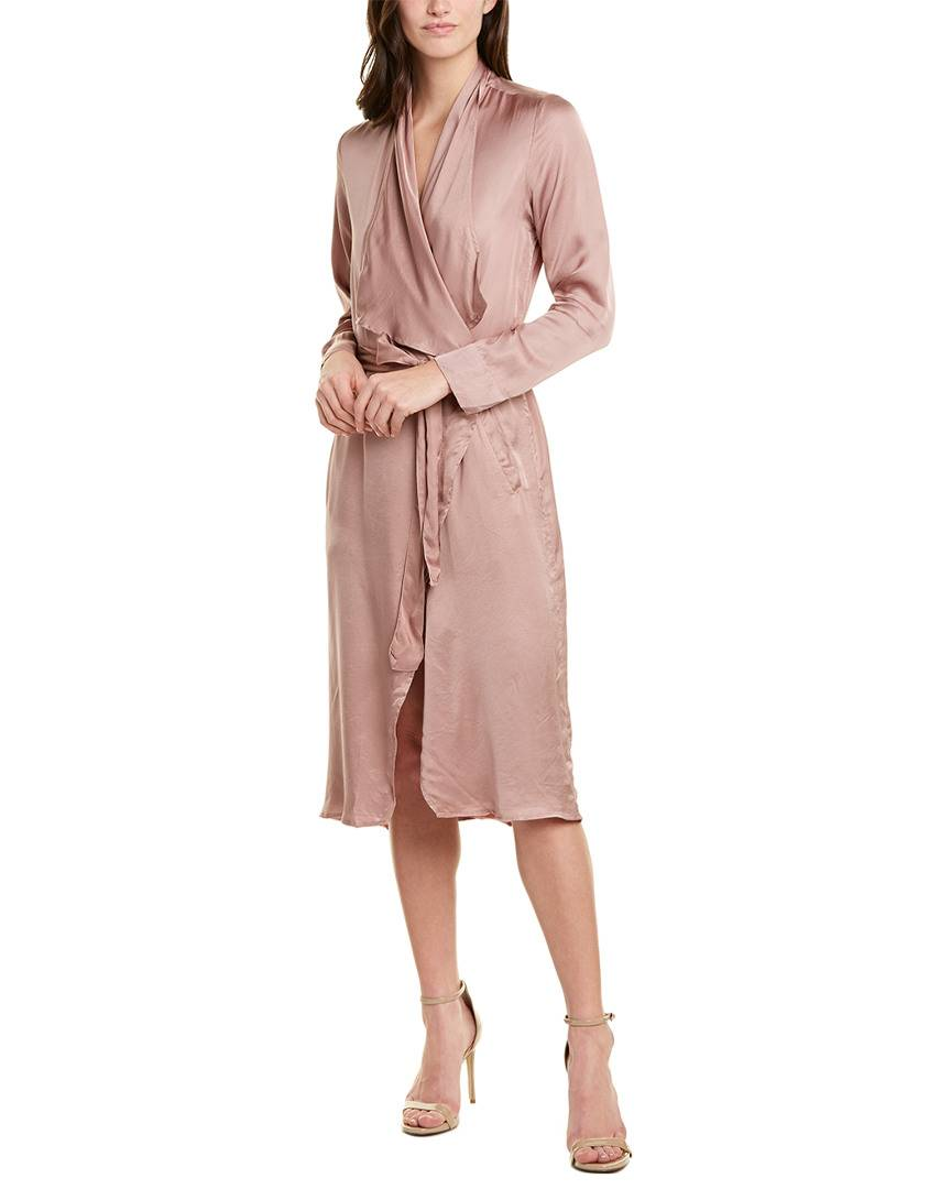 YFB CLOTHING  Wrap Dress - Brown - Size: XS