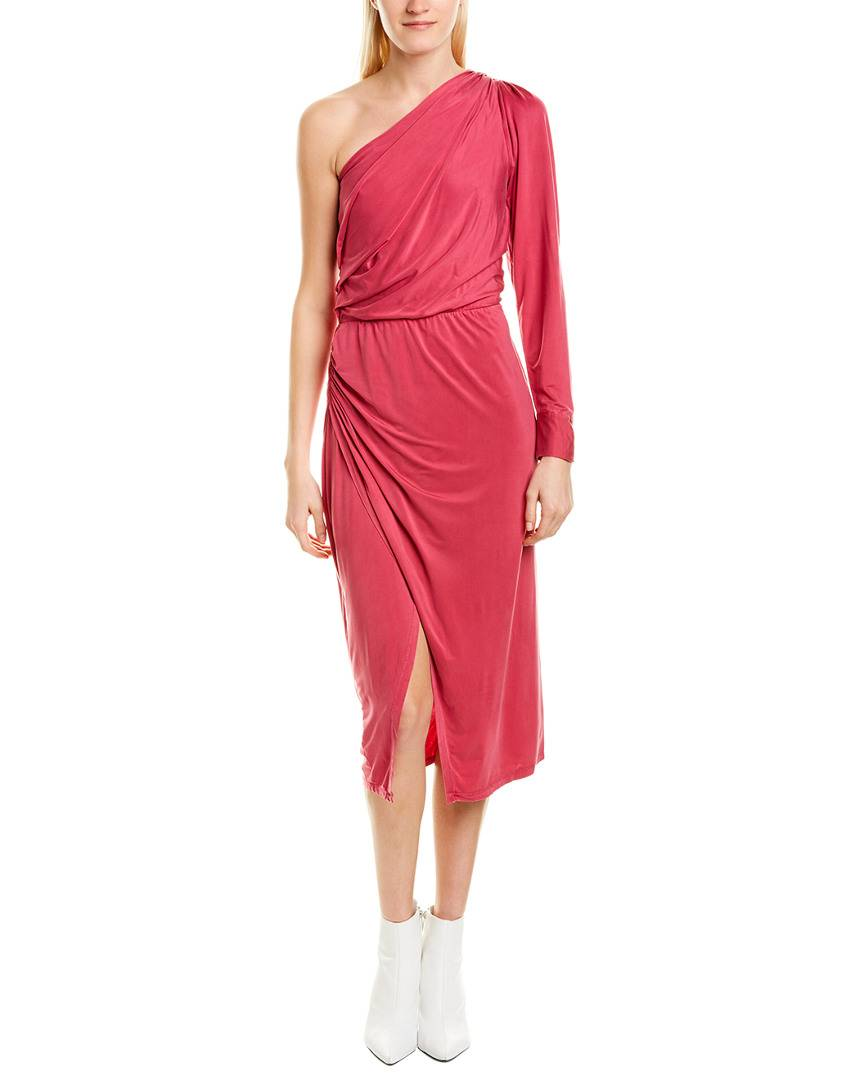 YFB CLOTHING Penelope Midi Dress - Pink - Size: L