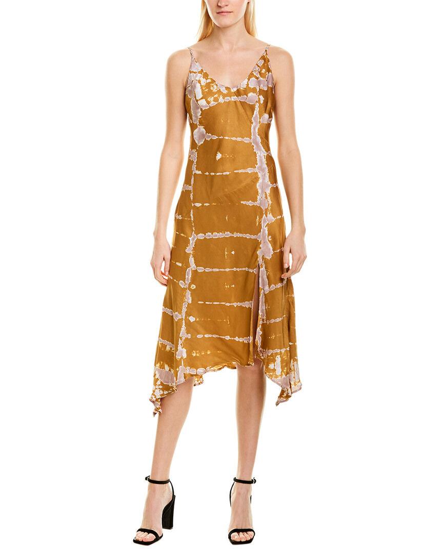 YFB Clothing Young Fabulous & Broke Handkerchief Slip Dress - Brown - Size: XS
