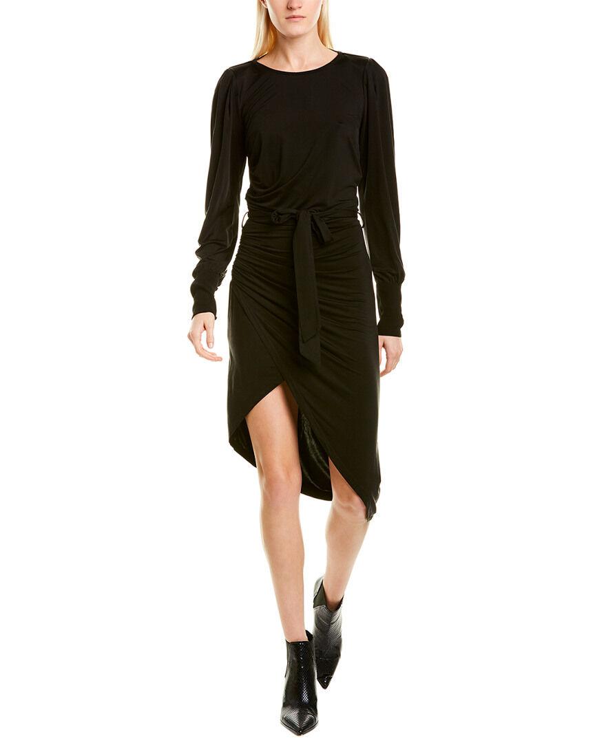 YFB Clothing Young Fabulous & Broke Ruched Sheath Dress - Black - Size: XS