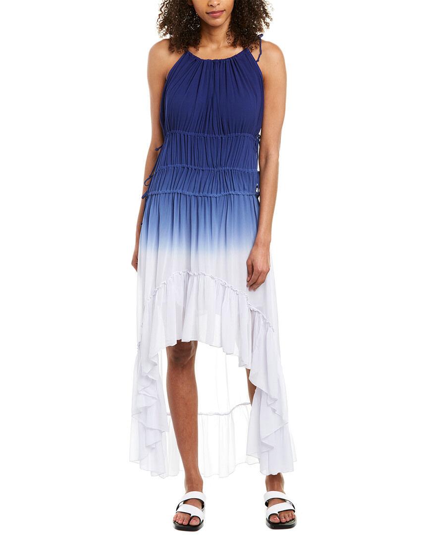 YFB CLOTHING Karina Maxi Dress - Blue - Size: XS