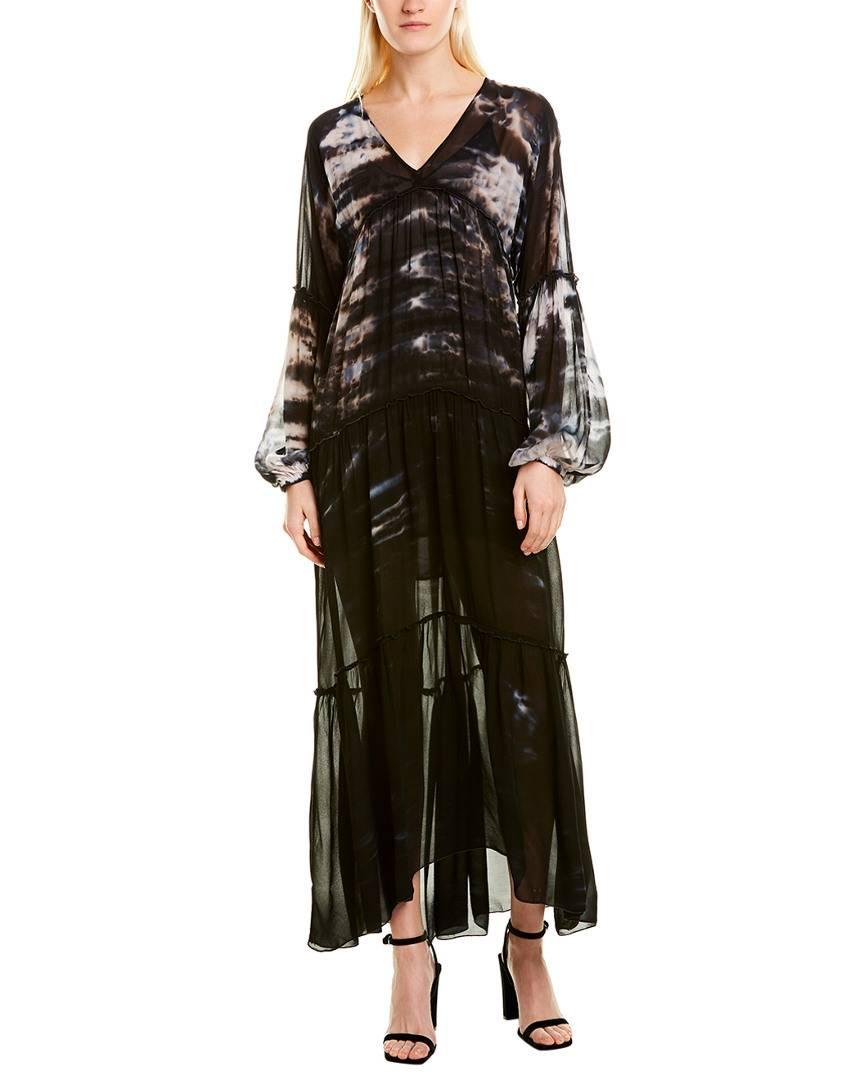 YFB Clothing Young Fabulous & Broke Tie-Dye Maxi Dress - Black - Size: XS