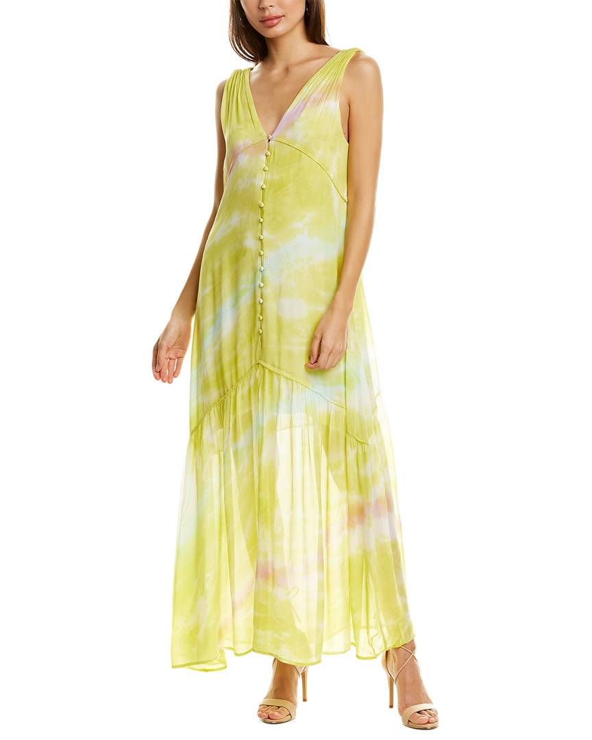 YFB CLOTHING Raquel Maxi Dress - Green - Size: M