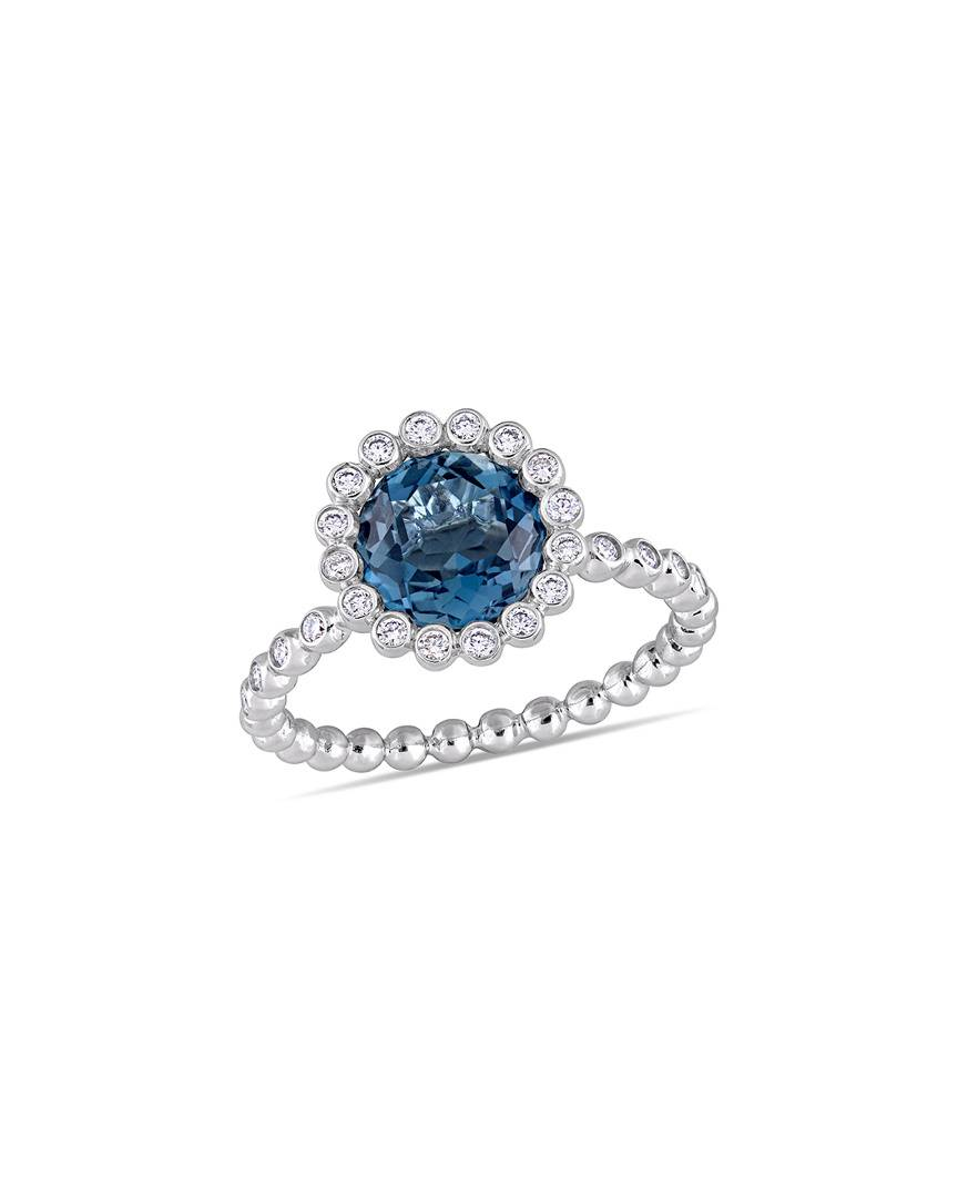 Rina Limor Fine Jewelery 14K 2.52 ct. tw. Diamond & Topaz Ring - Size: 5