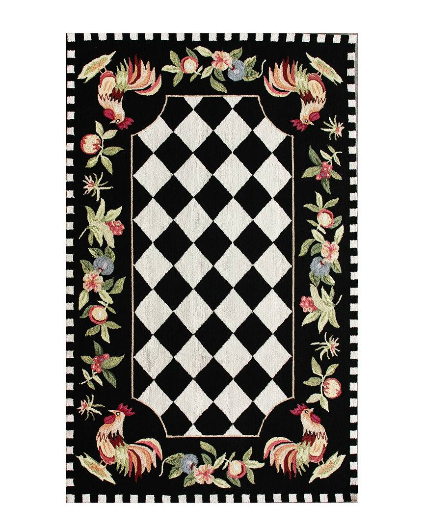 nuLOOM Angla Rooster Kitchen Hand-Hooked Rug - Size: Square: 8'