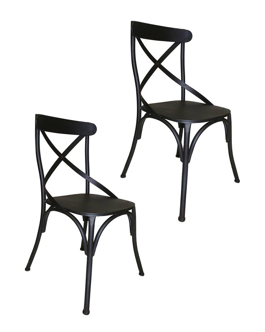 Rustique by Pangea Pangea Set of 2 Dylan Metal Dining Chair