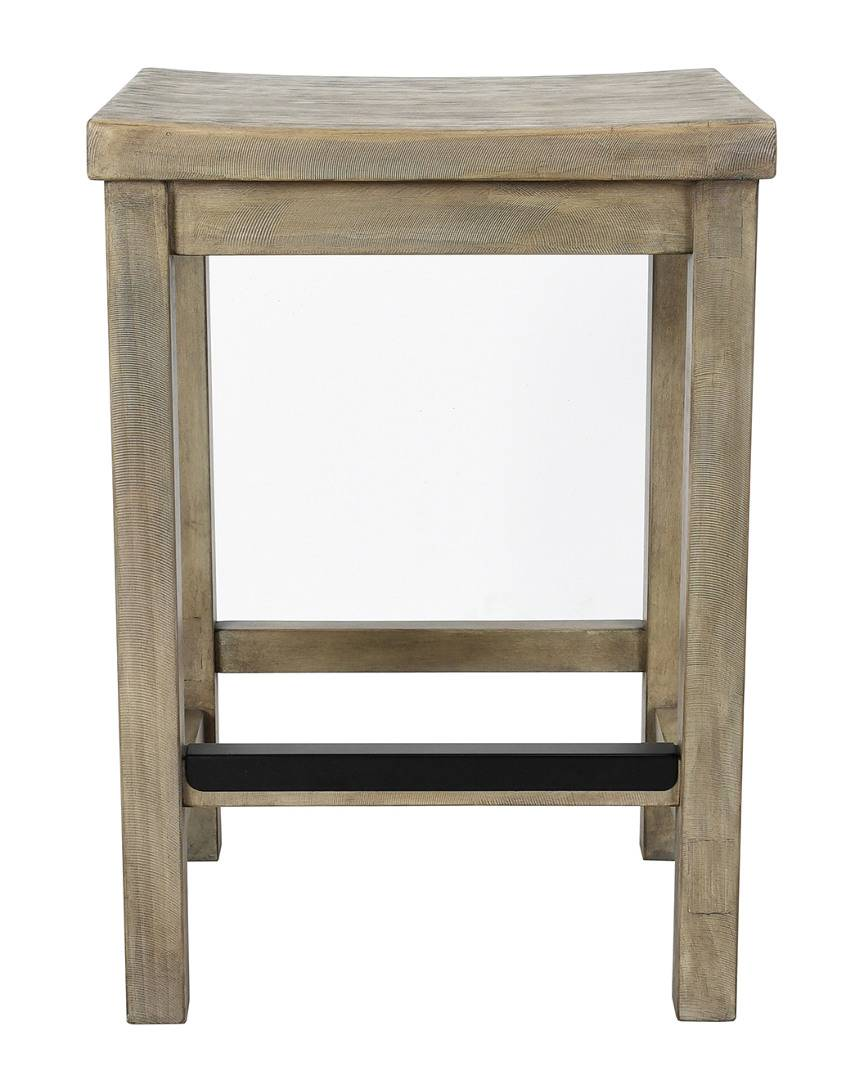 Classic Home by Kosas Home Kelsey Reclaimed Pine Counter-Height Stool - Stone