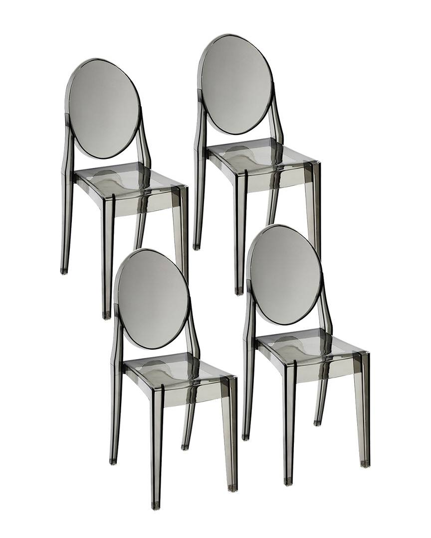 Pangea Set of 4 Phantom Dining Chairs