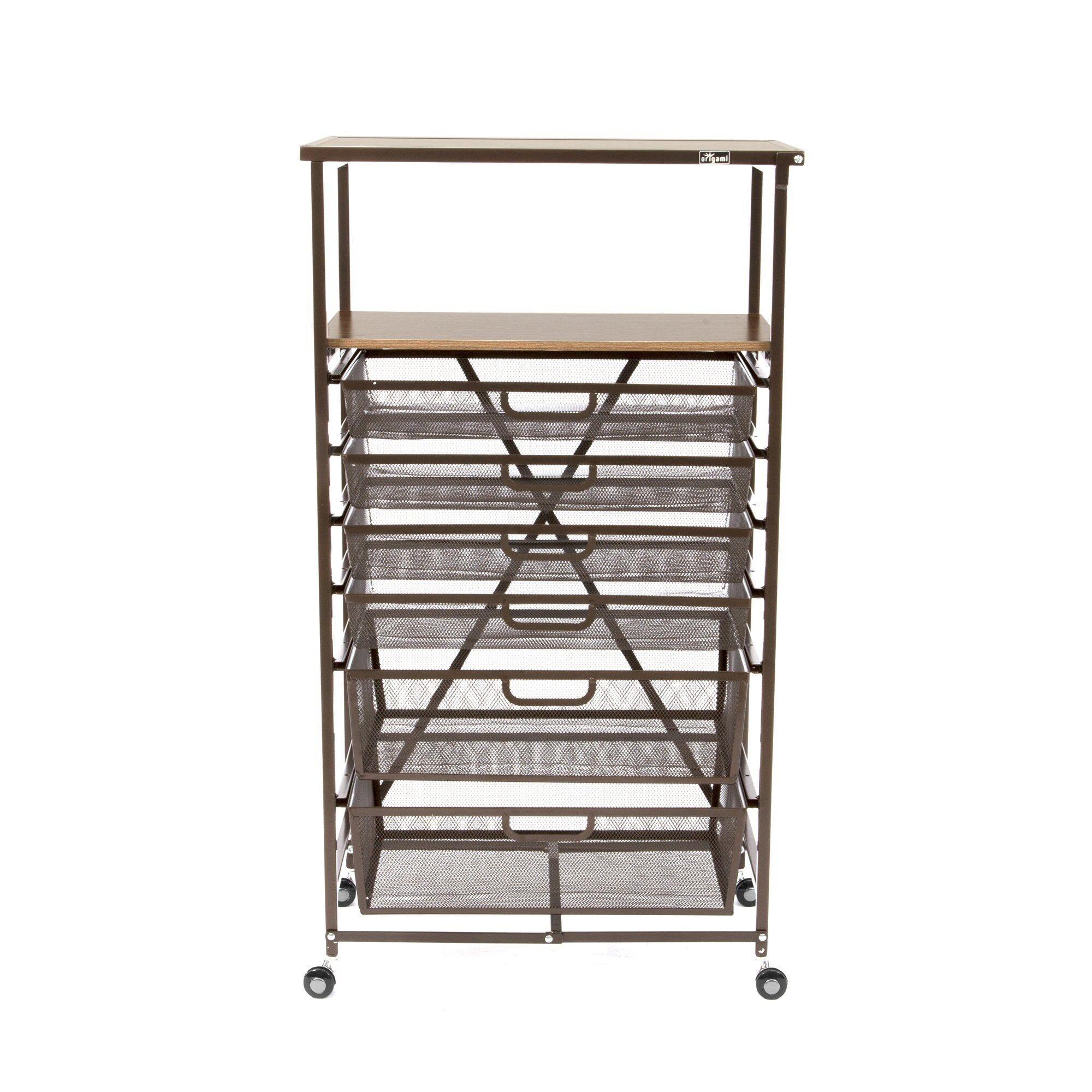 OrigamiRack 6-Drawer Storage Cart