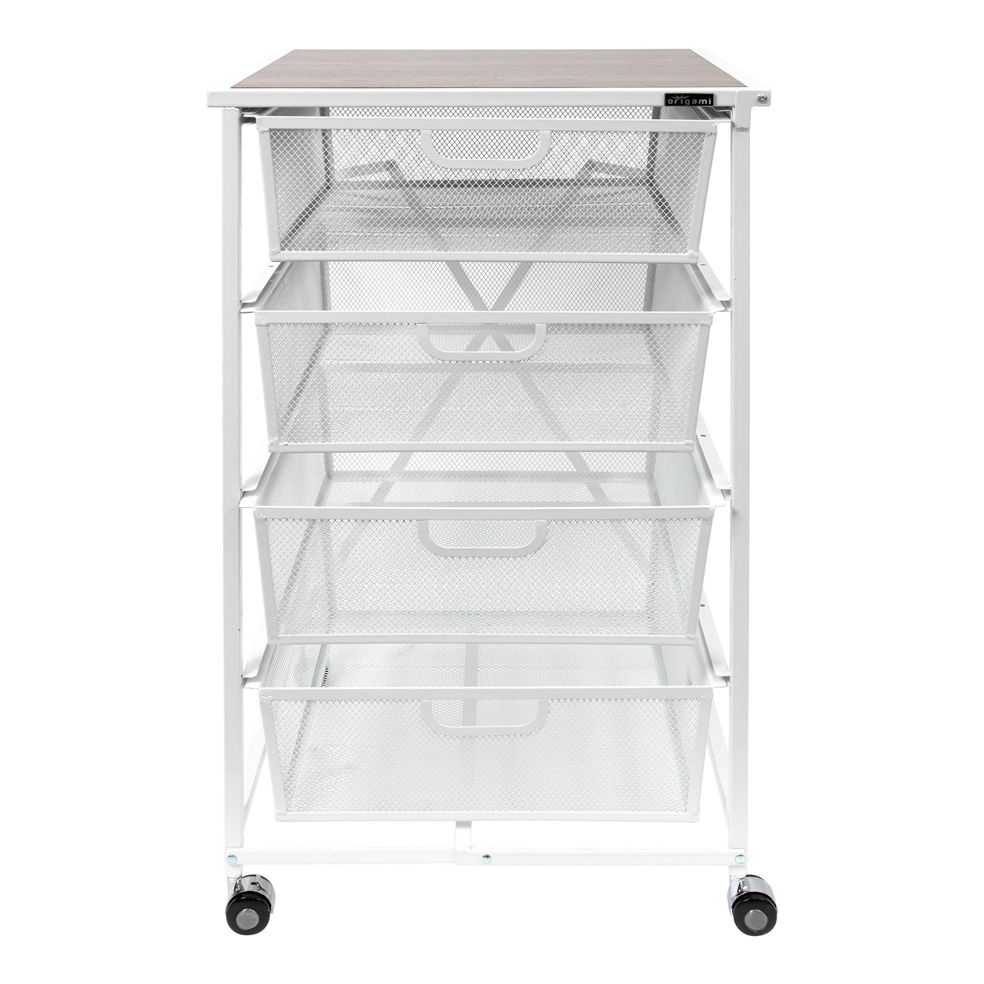 OrigamiRack 4-Drawer Storage Cart