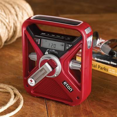 NOVICA American Red Cross Field Radio and Phone Charger