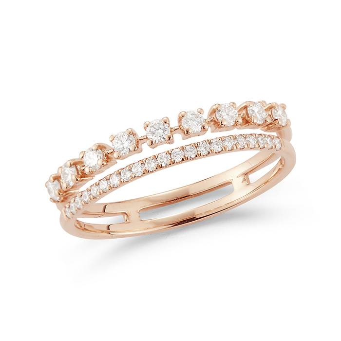 Dana Rebecca Designs Ava Bea Double Row Ring