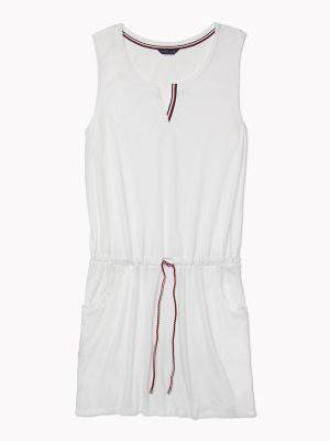 Tommy Hilfiger Women's Essential Colorblock Swim Cover-Up White - S-M