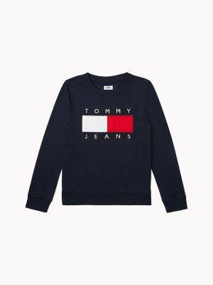 Tommy Hilfiger Women's Flag Sweatshirt Navy - L