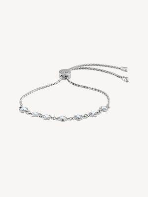Tommy Hilfiger Women's Stainless Steel Crystal Bracelet Silver -