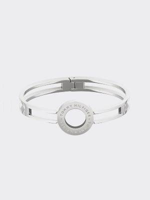 Tommy Hilfiger Women's Stainless Steel Circle Bangle Silver -