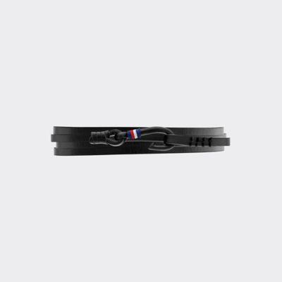 Tommy Hilfiger Men's Nautical Bracelet In Black Leather Black -
