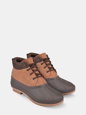 Tommy Hilfiger Men's Tonal Duck Boot Cognac/Brown - 9