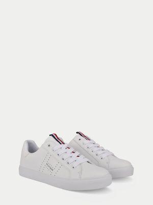 Tommy Hilfiger Women's Icon Stripe Sneaker White - 8.5