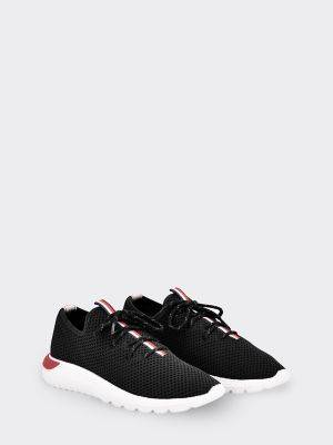 Tommy Hilfiger Women's Mesh Stripe Sneaker Black/Signature - 8