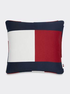 Tommy Hilfiger Women's Hilfiger Flag Decorative Pillow Red / White / Blue -