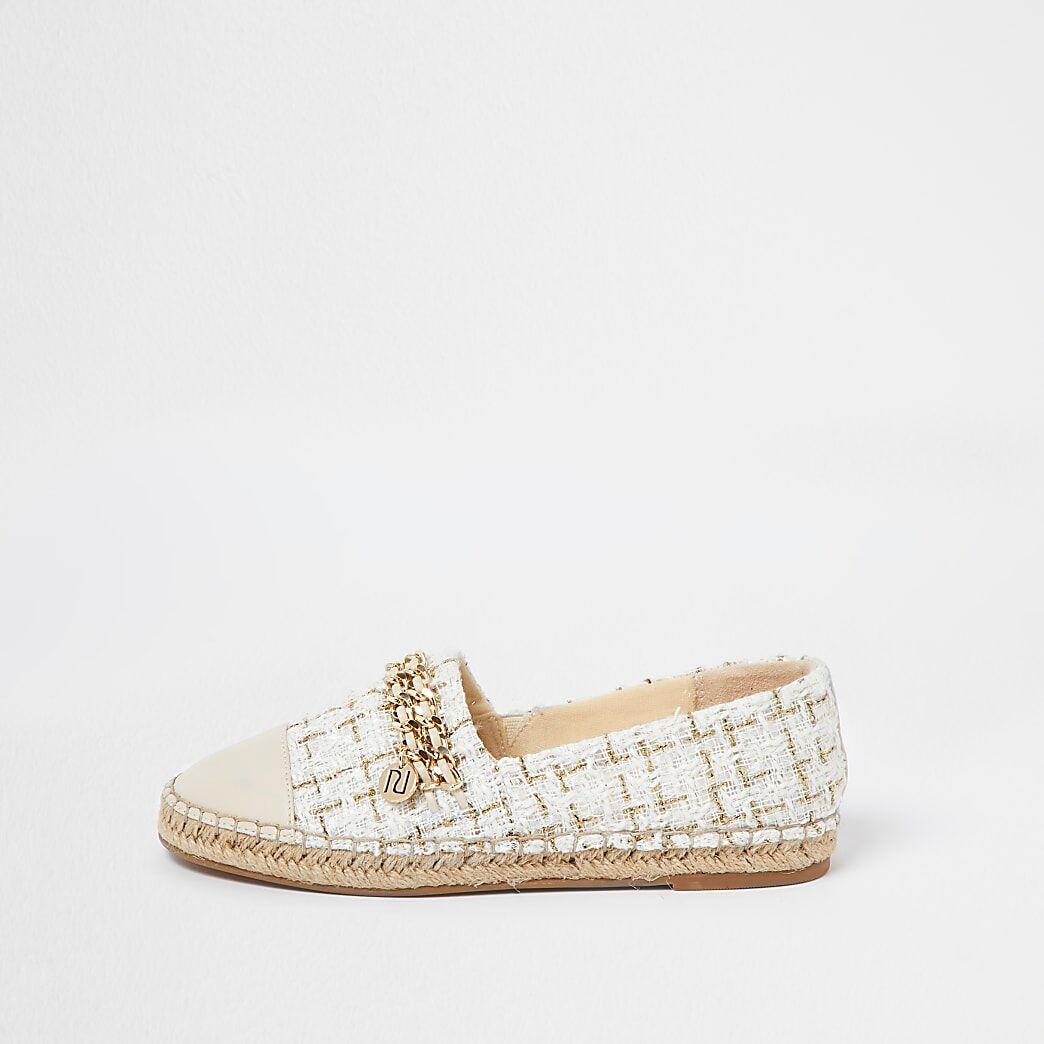 River Island Womens Beige chain detail espadrille shoes