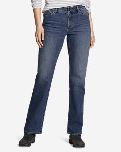 Eddie Bauer Women's Voyager High-Rise Boot-Cut Jeans - Curvy  - Coast - Size: 14