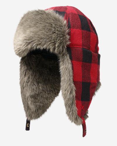 Eddie Bauer Hadlock Trapper Hat  - Scarlet - Size: Small