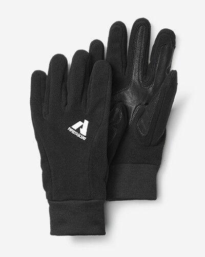 Eddie Bauer Leather Palm Mountain Gloves  - Black - Size: Large