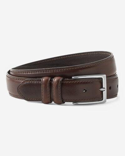 Eddie Bauer Men's Feather Edge Leather Belt  - Oak - Size: 32
