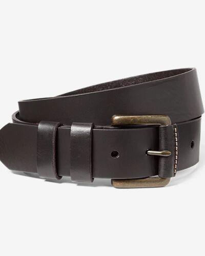 Eddie Bauer Men's American Sportsman Leather Belt  - Oak - Size: 34