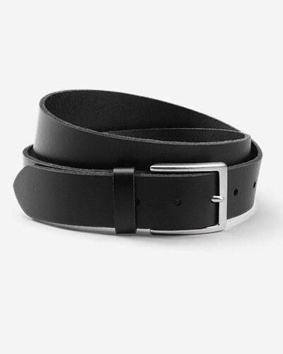 Eddie Bauer Men's Khaki Leather Belt  - Black - Size: 40