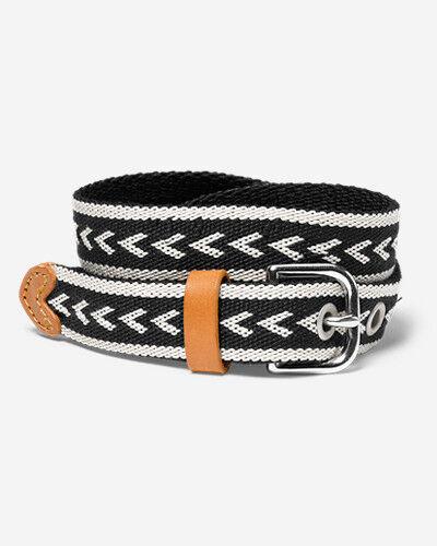 Eddie Bauer Women's Voyager Woven Belt  - Black - Size: Medium
