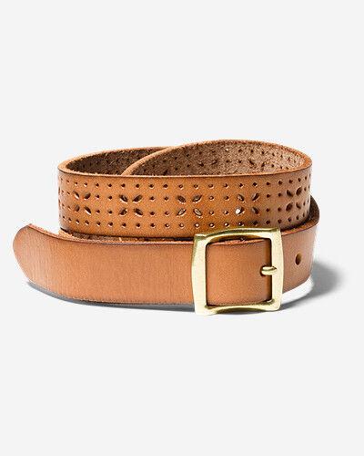 Eddie Bauer Women's Elysian Leather Belt  - Cognac - Size: Small