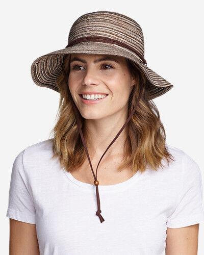 Eddie Bauer Women's Packable Straw Hat - Wide Brim  - Brown - Size: Small