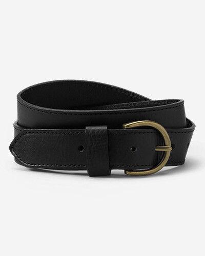 Eddie Bauer Women's Pebbled Jean Belt  - Black - Size: Small