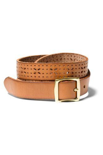 Eddie Bauer Women's Elysian Leather Belt  - Cognac - Size: Medium