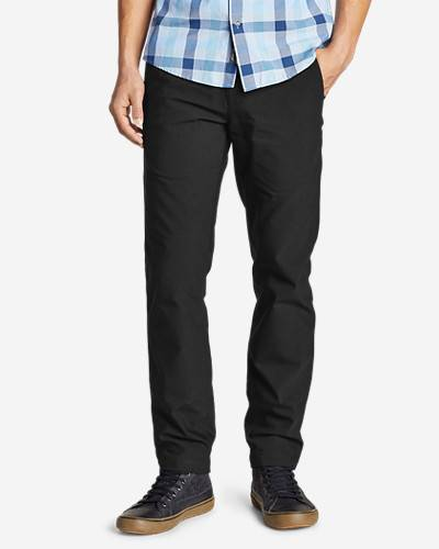 Eddie Bauer Men's Flex Wrinkle-Resistant Sport Chinos - Slim  - Black - Size: 36/30