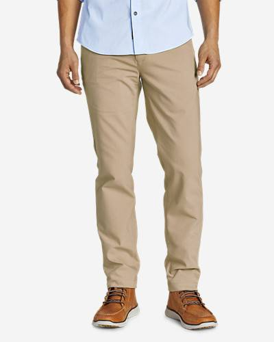 Eddie Bauer Men's Flex Wrinkle-Resistant Sport Chinos - Slim  - Light Khaki - Size: 38/30
