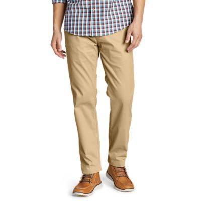 Eddie Bauer Men's Flex Wrinkle-Resistant Sport Chinos - Relaxed  - Light Khaki - Size: 40/32