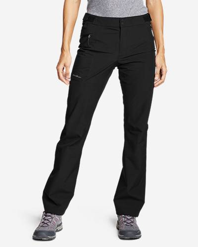 Eddie Bauer Women's Cloud Cap Stretch Rain Pants  - Black - Size: Extra Small