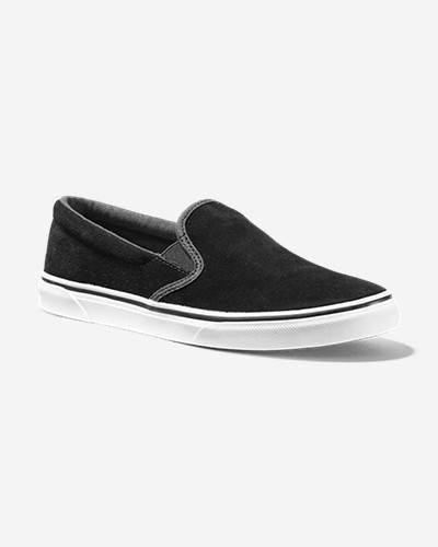 Eddie Bauer Women's Haller Leather Slip-On  - Black - Size: 10M
