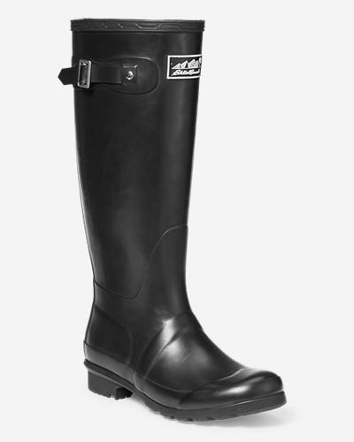 Eddie Bauer Women's Rain Pac Boot  - Black - Size: 8M