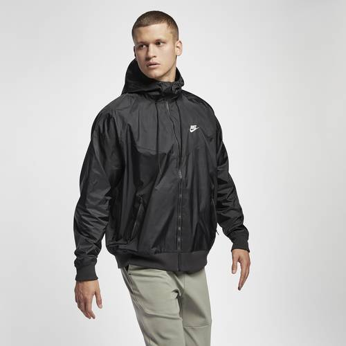Nike Mens Nike Windrunner Hooded Jacket - Mens Black/Black/Sail Size L